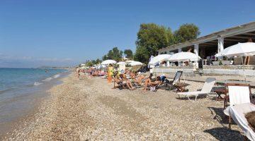 Corfu Acharavi Beach Closer View with People