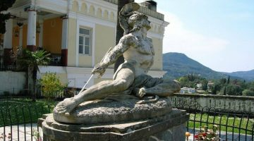 Corfu Achilleion Palace Achilleas Statue
