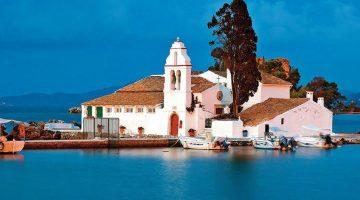 Corfu Kanoni Mouse Island Church