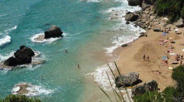 Corfu Myrtiotissa Beach from Above