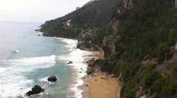 Corfu Myrtiotissa Beach Far View