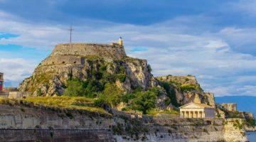 Corfu Old Fortress Far View