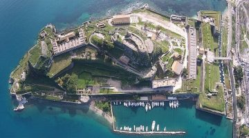 Corfu Old Fortress Aerial View