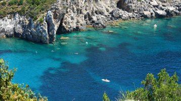 Corfu Palaiokastritsa Beach from Above