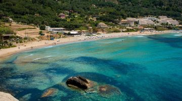 Corfu Pelekas Beach Far View