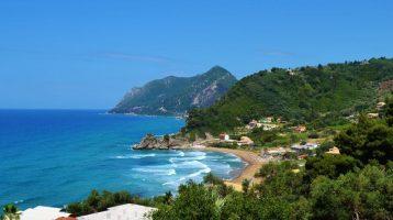 Corfu Pelekas Beach Far View 2