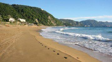 Corfu Glyfada Beach closer view