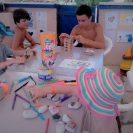 Elea Beach – Kids Activities Jenga and painting with markers