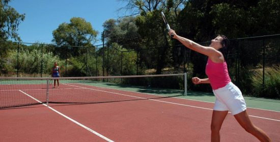 Livadi Nafsika Tennis Court with Tennis Players