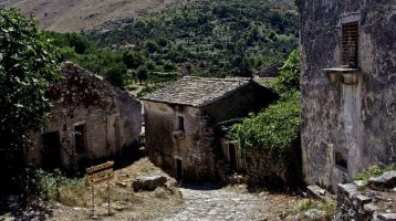 Palaia Peritheia Village Houses and road view